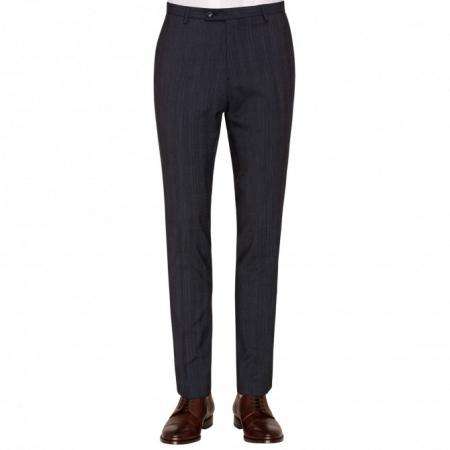 Pantaloni mix&match CLUB of GENTS Cedric pentru costum Slim Fit albastru caroiat [0]