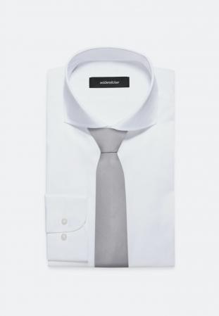 Cravata matase SEIDENSTICKER uni argintie [1]