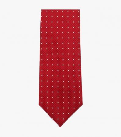 Cravata VENTI rosie cu puncte albe [2]