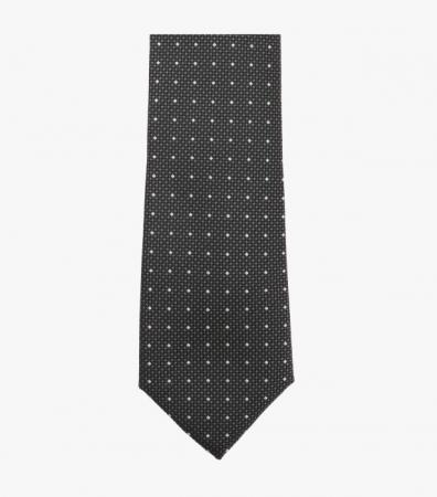 Cravata VENTI antracit cu puncte albe [3]