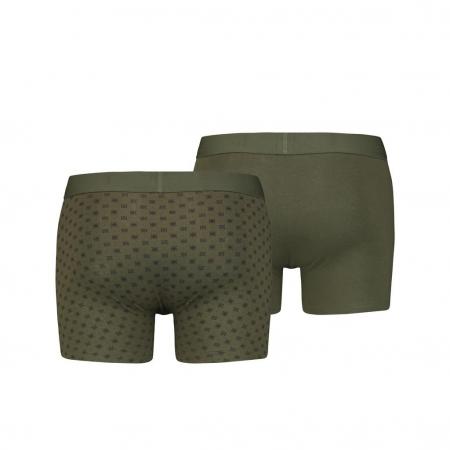 Boxeri lungi barbati LEVI'S kaki print bandana - set 2 buc [1]