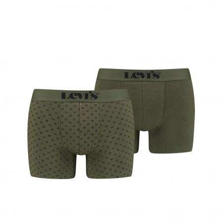 Boxeri lungi barbati LEVI'S kaki print bandana - set 2 buc [0]