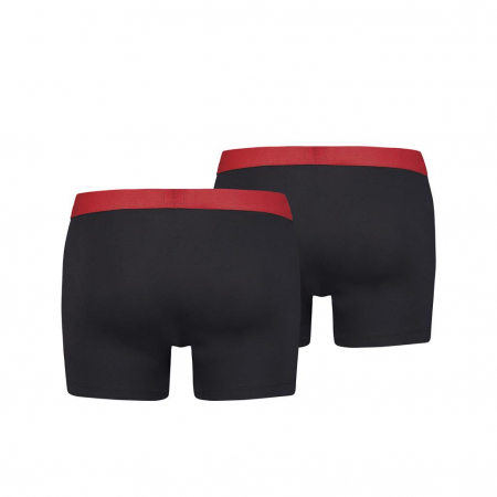 Boxeri lungi barbati LEVI'S SOLID BASIC negri - set 2 buc [1]