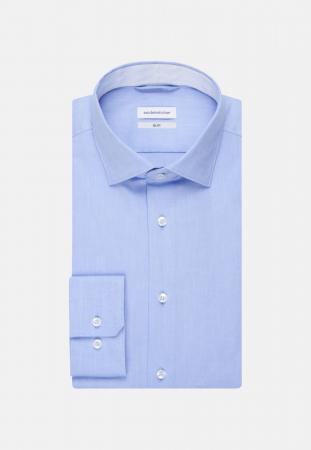 Cămașă business bărbați Seidensticker Slim Not Iron albastra [5]