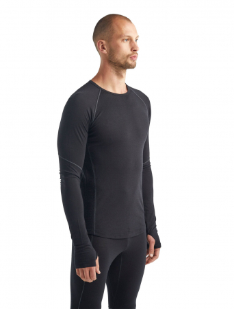 Bluza de corp barbati ICEBREAKER 150 Zone LS neagra [4]