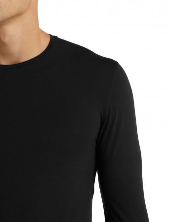 Bluza merino barbati ICEBREAKER Anatomica Crewe neagra [4]