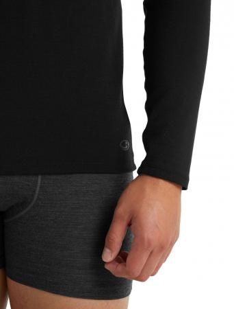 Bluza merino barbati ICEBREAKER Anatomica Crewe neagra [5]