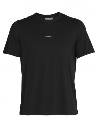 Tricou merino barbati ICEBREAKER Central negru [0]