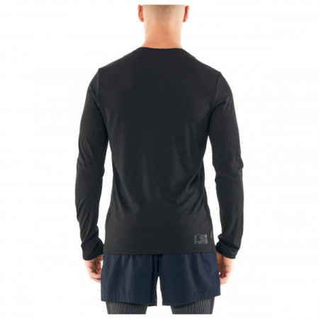 Bluza de corp barbati ICEBREAKER Tech Lite LS Crewe Impact Timeline neagra [1]