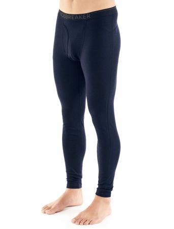 Pantaloni de corp barbati cu slit ICEBREAKER 200 Oasis negri [5]
