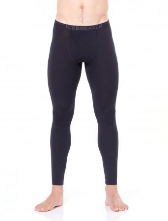 Pantaloni de corp barbati cu slit ICEBREAKER 200 Oasis negri [1]