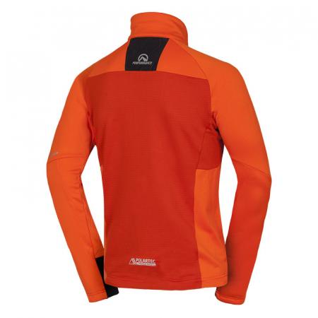 Bluza barbati midlayer fleece NORTHFINDER KREMENEC portocaliu/rosu [1]