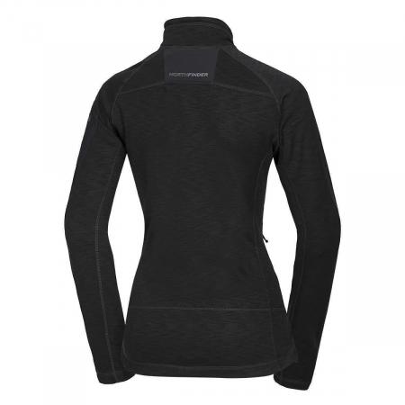 Bluza fleece femei NORTHFINDER Michelle neagra [1]