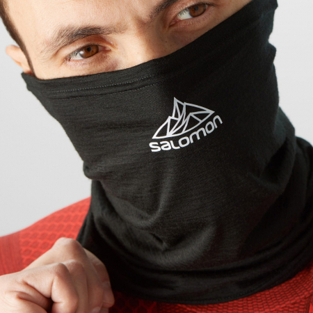 Esarfa tub merino unisex SALOMON MTN TOUR2COOL negru [1]