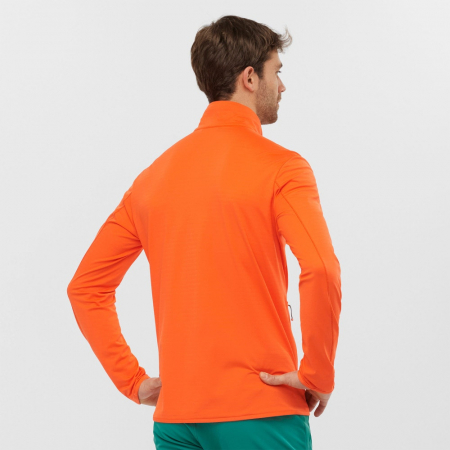 Midlayer fleece drumetie barbati SALOMON OUTRACK portocaliu [2]
