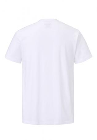 Tricou maneca scurta barbati PADDOCK'S O neck alb [3]