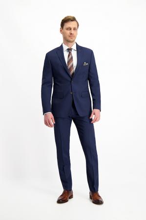 Pantalon elegant LAVARD Travel albastru mix&match (864) [4]