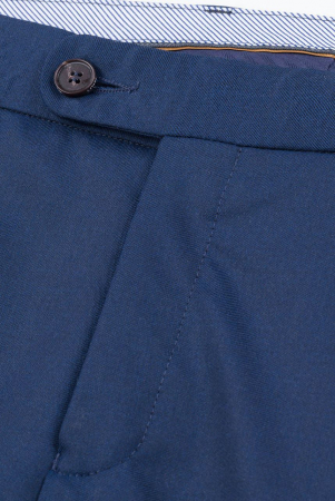 Pantalon elegant LAVARD Travel albastru mix&match (864) [7]
