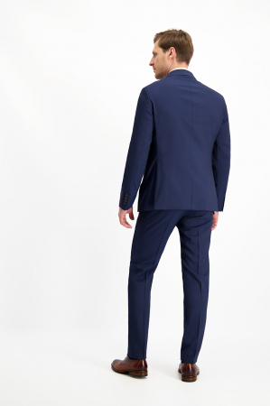 Pantalon elegant LAVARD Travel albastru mix&match (864) [5]