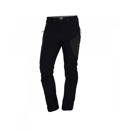 Pantaloni barbati strong-softshell 3L trekking NORTHFINDER Simet negri [1]