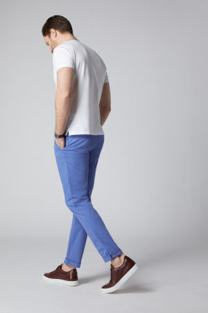 Pantaloni chino bumbac barbati SPOKE SHARP Lightweights albastri [2]