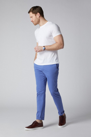 Pantaloni chino bumbac barbati SPOKE SHARP Lightweights albastri [1]