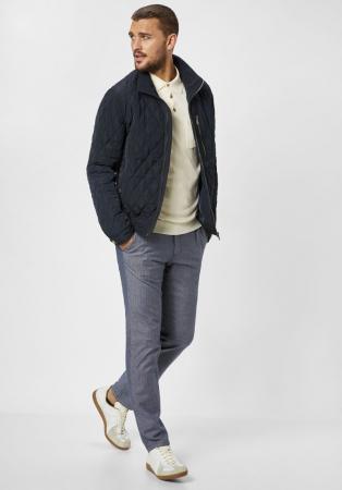 Pantaloni chino barbati REDPOINT Belleville albastri [4]