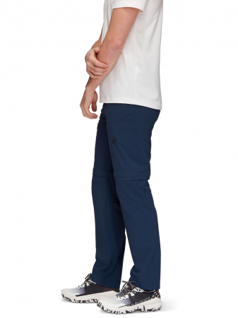 Pantaloni drumetie 2in1 barbati MAMMUT Runbold Zip Off bleumarin [2]