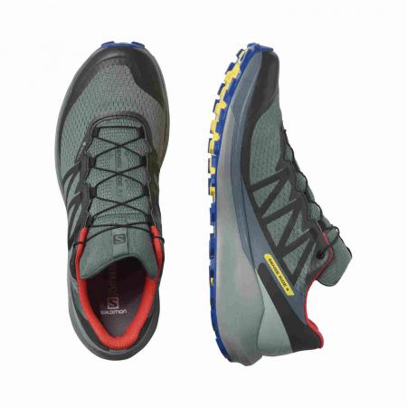 Pantofi alergare barbati SALOMON SENSE RIDE 4 INVISIBLE GTX gri [2]