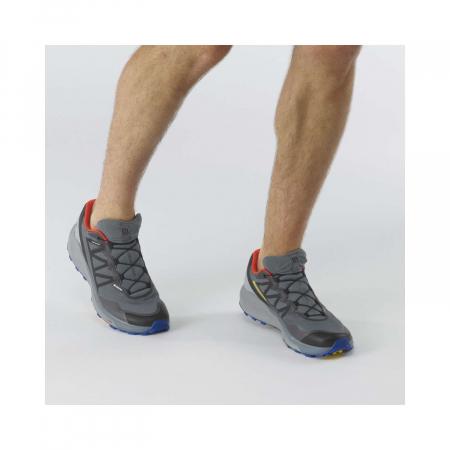 Pantofi alergare barbati SALOMON SENSE RIDE 4 INVISIBLE GTX gri [1]
