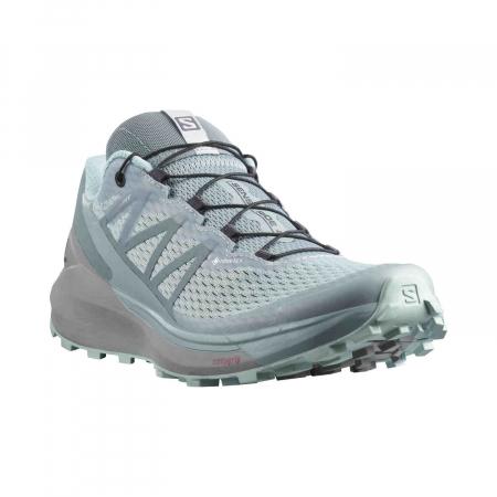 Pantofi alergare femei SALOMON SENSE RIDE 4 INVISIBLE W GTX gri [5]