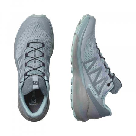 Pantofi alergare femei SALOMON SENSE RIDE 4 INVISIBLE W GTX gri [3]
