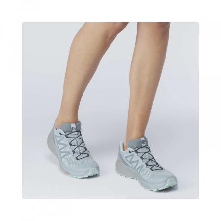 Pantofi alergare femei SALOMON SENSE RIDE 4 INVISIBLE W GTX gri [2]