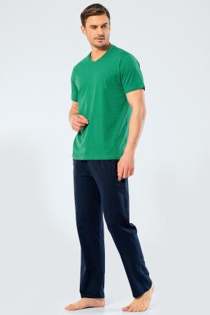 Pijama bumbac set barbati tricou si pantaloni lungi TÜREN verde [1]
