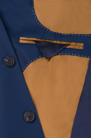 Sacou elegant LAVARD Travel albastru mix&match (864) [5]