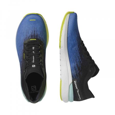 Pantofi alergare barbati SALOMON SONIC 4 Accelerate albastru [3]