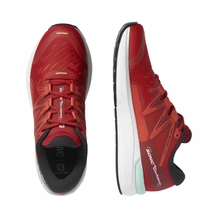 Pantofi alergare barbati SALOMON SONIC 4 Confidence rosu [1]
