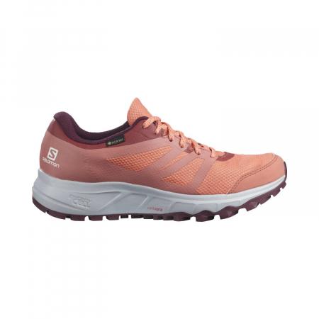Pantofi alergare femei SALOMON TRAILSTER 2 GTX W caramiziu [0]