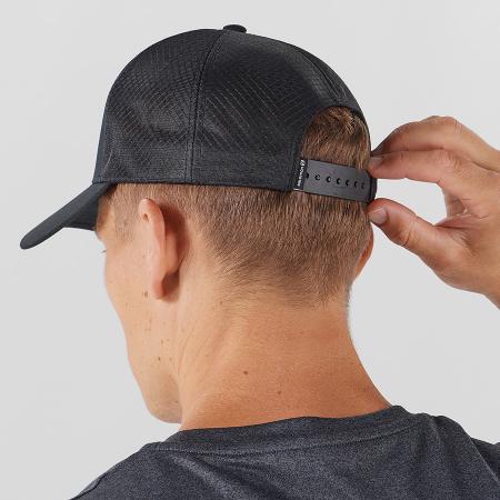 Sapca drumetie unisex SALOMON Cap Trucker Curved Cap neagra [1]