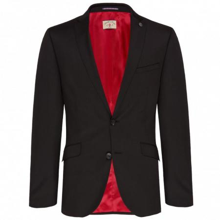 Sacou mix&match CLUB of GENTS Cayson pentru costum Slim Fit negru [0]