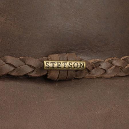 Palarie piele STETSON Western Buffalo maro inchis [2]