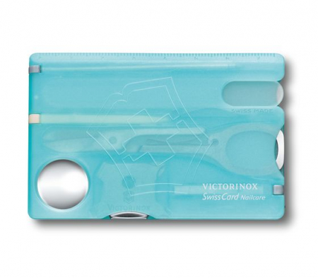 Card multifunctional VICTORINOX Swisscard Nailcare turcoaz VX0.7240.T21 [0]