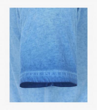 Tricou bumbac nasturi barbati CASA MODA albastru [3]