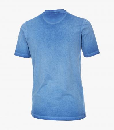 Tricou bumbac nasturi barbati CASA MODA albastru [1]