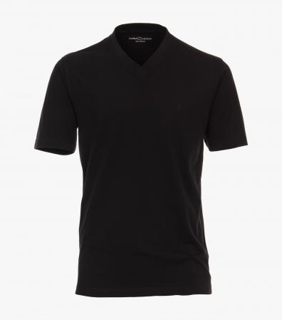 Tricou bumbac anchior barbati CASA MODA negru - set 2 bucati [0]