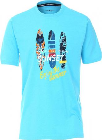 Tricou bumbac barbati CASA MODA bleu print surf [0]