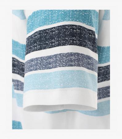 Tricou bumbac barbati CASA MODA albastru print surf [4]
