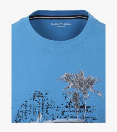 Tricou bumbac barbati CASA MODA albastru print California [2]