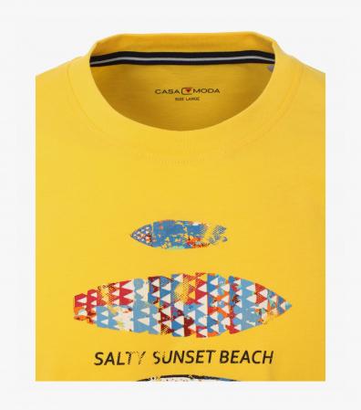 Tricou bumbac barbati CASA MODA galben print surf [2]