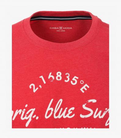 Tricou bumbac barbati CASA MODA rosu print surf [2]